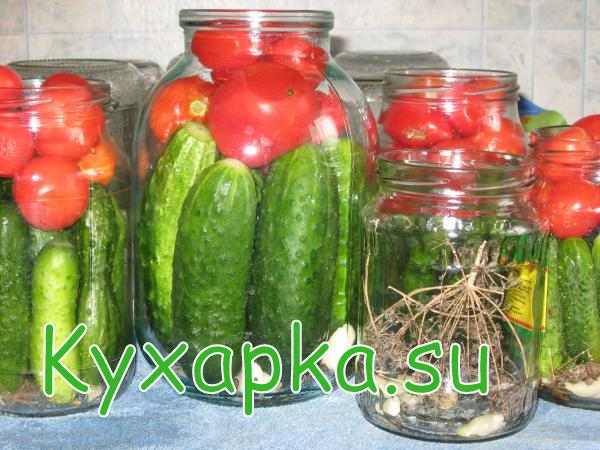 Маринование огурцов и помидоров