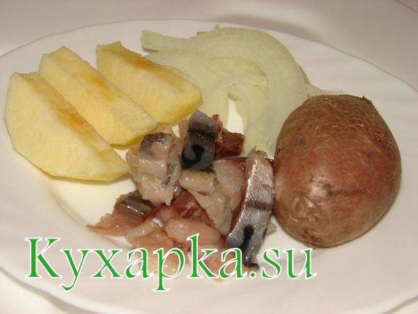 Закуска из картофеля и скумбрии