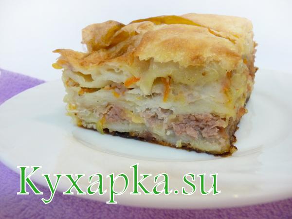 пирог мясной из лаваша - 1финал