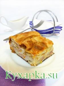 пирог мясной из лаваша