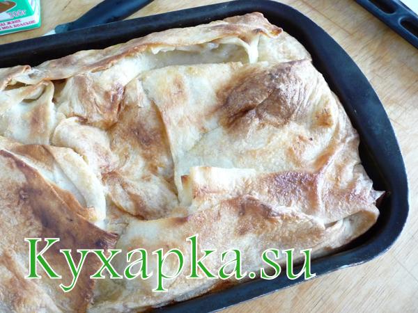 пирог мясной из лаваша - шаг 8