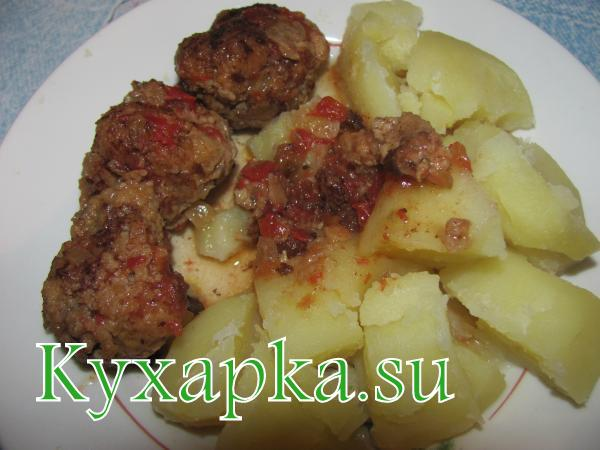 Обед за 24 гривны Второе блюдо – картошка с тефтелями