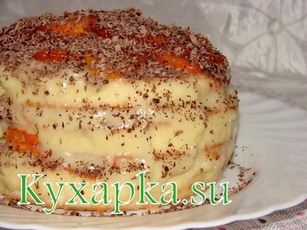 Торт с хурмой