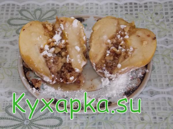 Простой десерт – запеченные яблоки с начинкой