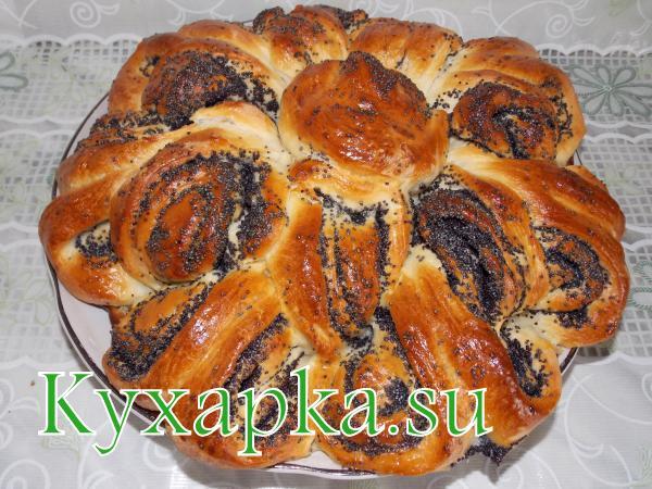Ажурный пирог с маком