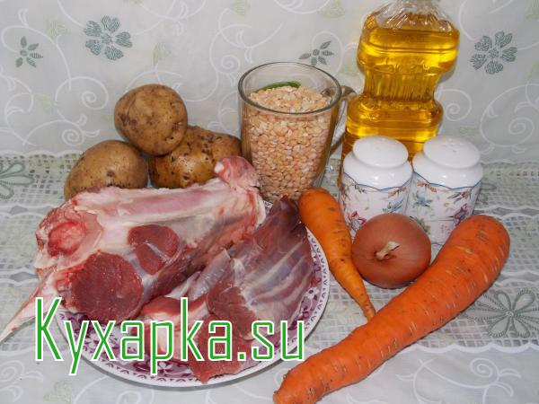 Ингредиенты для горохового супа