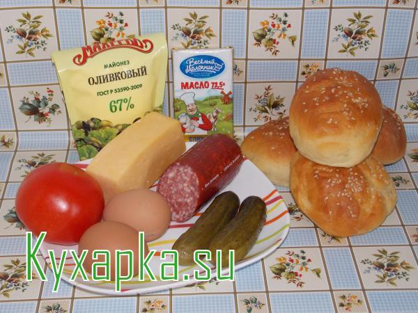 Ингредиенты для хрустящего завтрака