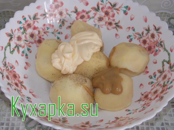 Картофель в шубе с куриной грудкой