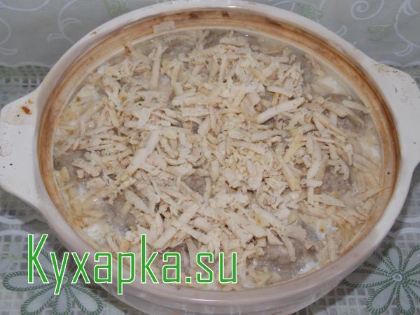 Мясные фрикадельки с картофелем в соусе