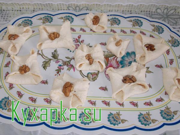 Печенье творожное цветочек