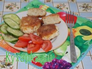 Рыбные котлеты на ужин с овощами