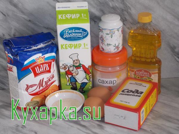 Ингредиенты для оладушек на скорую руку