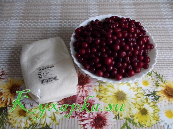 Ингредиенты для варенье из вишни