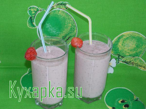 Молочно-клубничный коктейль