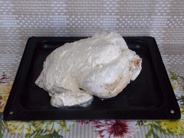 Курица с яблоком в духовке