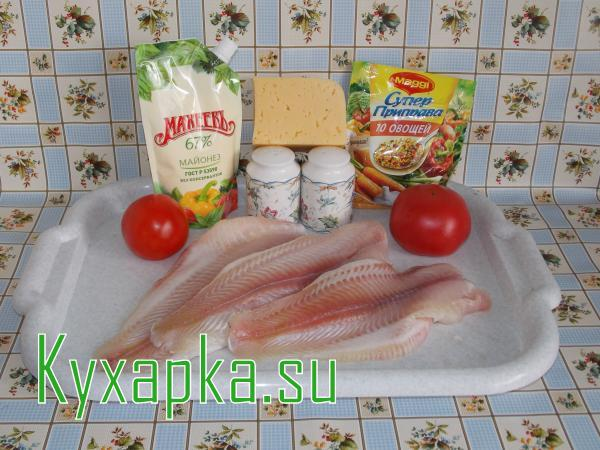 Морской язык в духовке