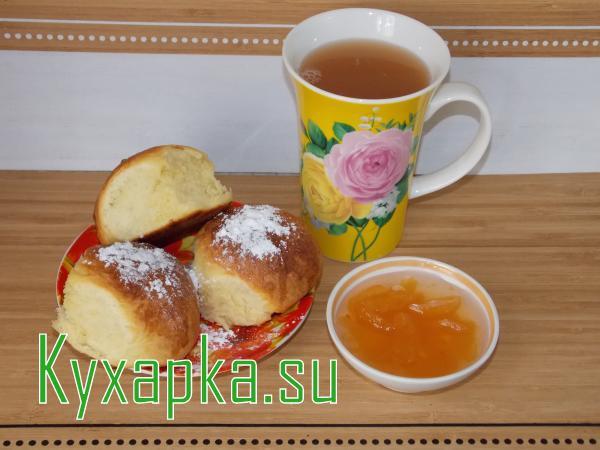 Готовим сахарные булочки к чаепитию