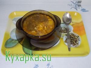 Готовим грибной суп с вермишелью на обед
