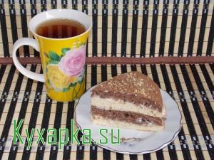 Простой торт на кефире на новый год к чаю на десерт