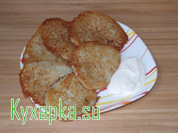Оладьи с картофелем и кабачком