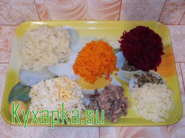 Салат сельди под шубой