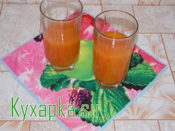 Сок морковно-тыквенный по старинки