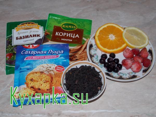 Цитрусово-ягодный чай
