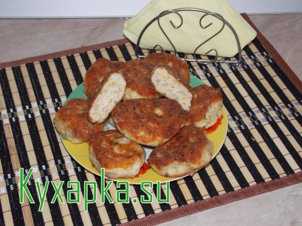 Вкусные куриные котлеты с грибами