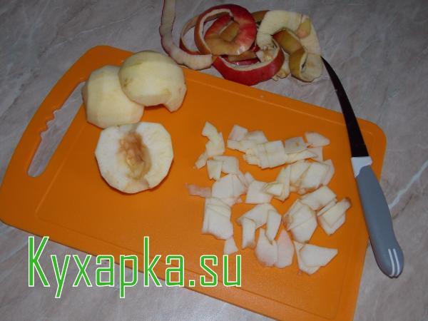 Блины с яблочным припеком
