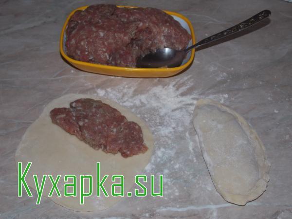Чебуреки с мясом