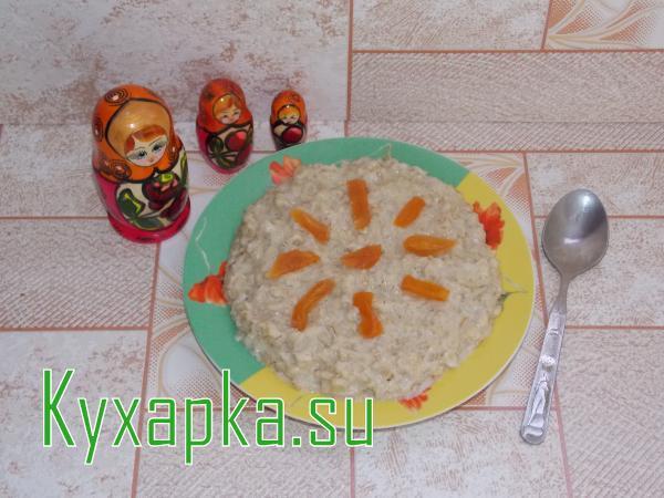 Овсяная каша на молоке с изюмом и курагой - рецепт пошаговый с фото