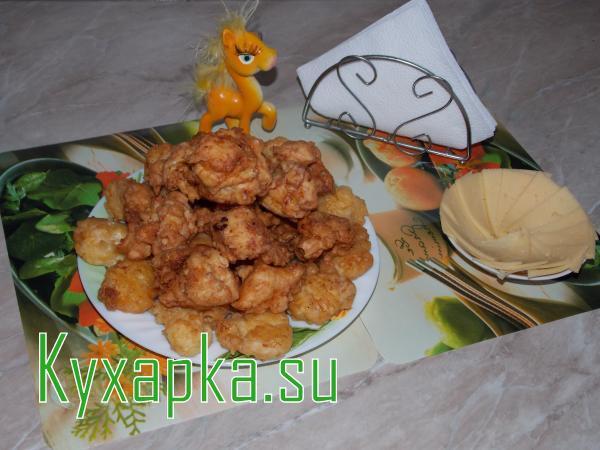 Курица в сырном кляре