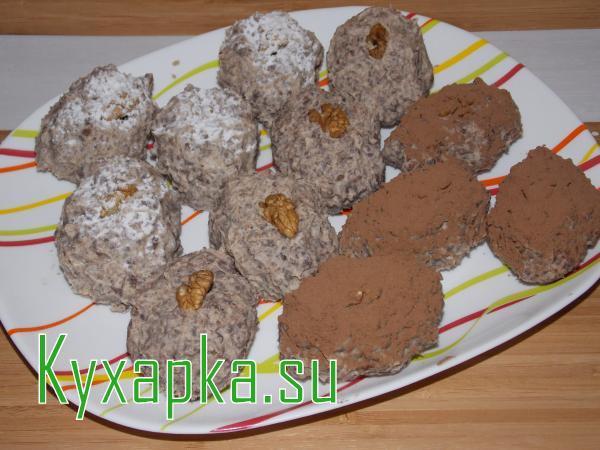 Пирожное из бисквита: Колобок