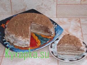 Торт блинный с творожным кремом