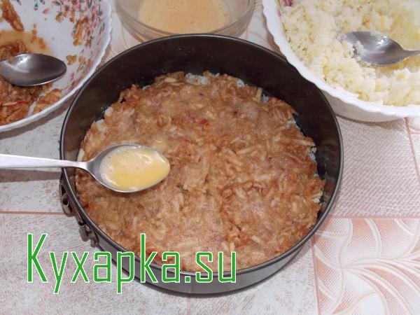 Запеканка рисовая с яблоком