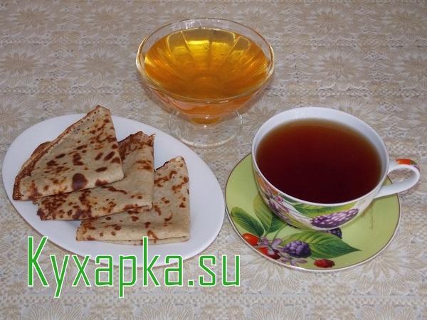 Блины: без муки из геркулеса к чаю с медом