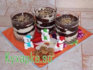 Десерт: лакомка шоколадно-манный