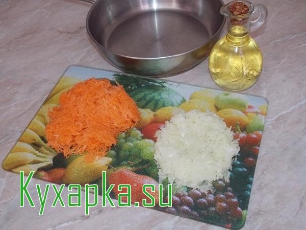 Кальмары: фаршированные рисом