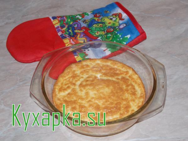 Омлет-суфле с плавленым сыром