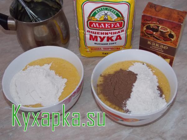 Печенье песочное двухцветное на новый год к чаю