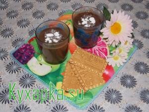 Десерт: Шоколадная панакотта