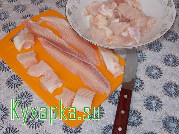 Шашлык из рыбы в духовке