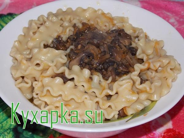 Грибная паста по итальянски