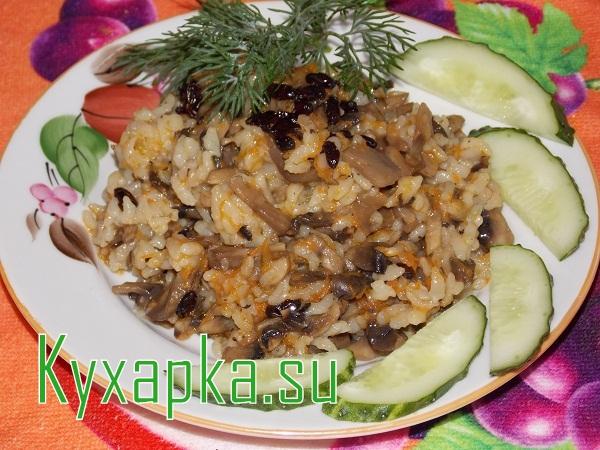 Плов с грибами: идеальный ужин для вегетарианца