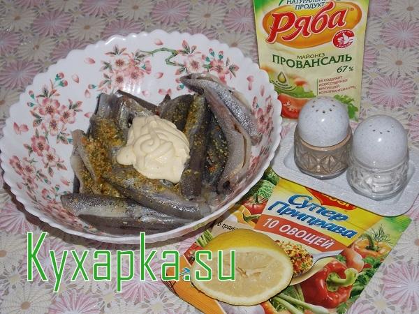 Мойва в духовке с картофелем