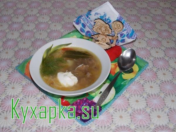 Суп с тушенкой на скорую руку