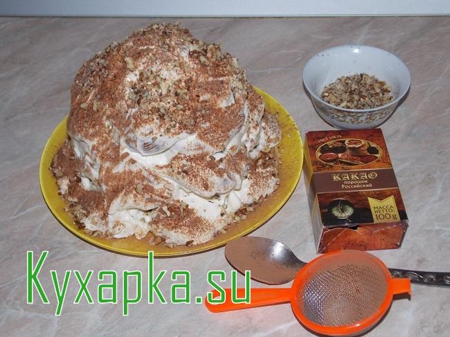 Скачать бесплатно рецепт торта опавшие листья с фото