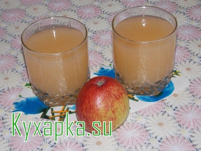 Яблочный кисель с пошаговым фото