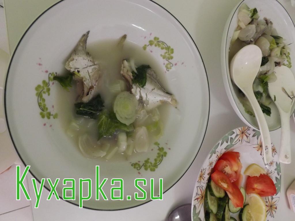 Суп на рыбном бульоне с пекинской капустой - рецепт пошаговый с фото