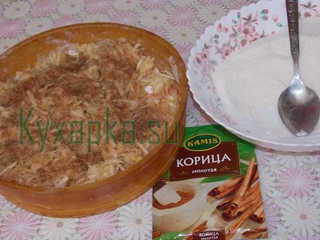 Насыпной яблочный пирог на Kyxapka.su